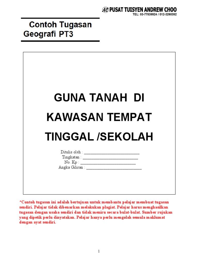 2018 Pt3 Geografi Kerja Kursus Part 3 3 Pdf
