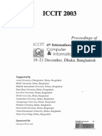 Table of Contents from Proceedings of ICCIT 2003