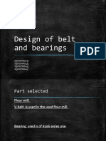 Belt and Drive analysis of flour mill
