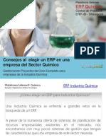 Consejos Al Elegir Un ERP en Una Empresa Del Sector Químico