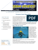 Dream Divers Dive Club October 2010 Newsletter