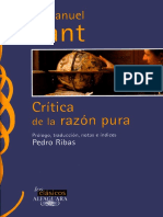 KANT-Critica Ala Razon Pura