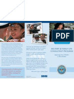 MILITARY & FAMILY LIFE CONSULTANT PROGRAM