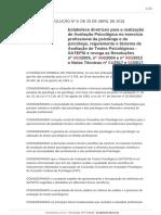 Resolucao Cfp 9 2018 Conselho Federal de Psicologia BR
