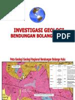 Presentasi Geologi Bendungan Bolangio Hulu (Interm)