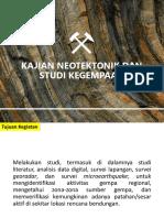 Kajian Neotektonik Dan Studi Kegempaan