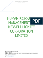 Human Resource Management in Neyveli Lignite Corporation Limited [www.writekraft.com]