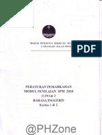 2018 Percubaan SPM Pulau Pinang Bahasa Inggeris Kertas 1 Dan 2 Skema Jawapan