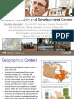 Ottawa Research and Development Centre-CABI Presentation 2018