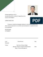 Patrick Martin m Resume for Application (1)