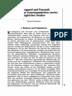 K Ierkegaard Und Foucault - Fink-Eitel