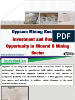 Gypsum Mining Business