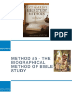 Bible Study Methods—#5 Biographical Method