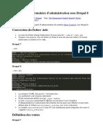 Drupal 8 Création formulaire d'administration