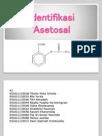 Identifikasi Asetosal