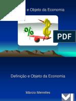 Definição e Objeto Da Economia