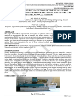 EXPERIMENTAL INVESTIGATION OF OPTIMUM VALUES OF PROCESS PARAMETERS IN EDM FOR MATERIAL AISI D3 STEEL BY GREY RELATIONAL METHOD