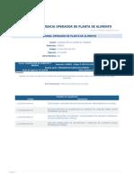 Perfil Competencia Operador de Planta de Alimento