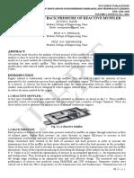 CFD ANALYSIS OF BACK PRESSURE OF REACTIVE MUFFLER