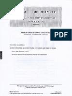 Malaysian University English Test (MUET Paper 4) Mid-Year 2010