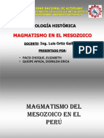 Magmatismo en El Mesozoico