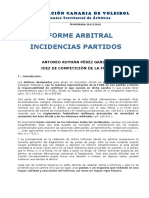 Modelo Informe Arbitral Incidencias