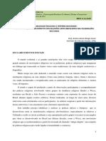 Amaro Xavier Braga Junior - A Pluraridade Religiosa e Interreligiosidade (Texto)