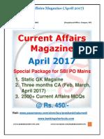 Current Affairs Magazine- April 2017