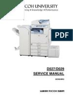 Ricoh mp 2500/mp 2580 service manual + parts catalog + tech.