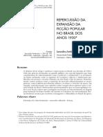 REPERCUSSÃO DA EXPANSÃO DA FICÇÃO POPULAR NO BRASIL DOS ANOS 1930