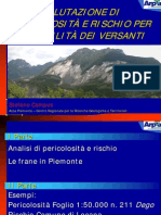 Stefano Campus - VALUTAZIONE DI PERICOLOSITÀ E RISCHIO PER INSTABILITÀ DEI VERSANTI