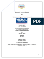 48681991 Project Report on Vishal Mega Mart