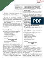 Decreto Legislativo que modifica el Decreto Legislativo N° 1195 Decreto Legislativo que aprueba la Ley General de Acuicultura