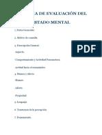 Esquema de Evaluación Del Estado Mental