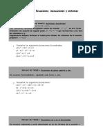Matematicas 4º Eso Ecuaciones, Inecuaciones y Sistemas