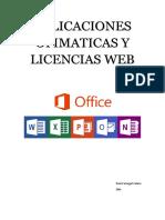 Aplicaciones Ofimaticas y Licencias Web