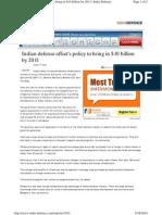 Defense Offset India