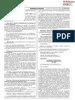 Decreto Legislativo que fortalece el funcionamiento de las entidades del Gobierno Nacional del Gobierno Regional o del Gobierno Local a través de precisiones de sus competencias regulaciones y funciones