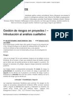 Gestión de Riesgos en Proyectos I – Introducción Al Análisis Cualitativo – Sergio Paúl Aguirre