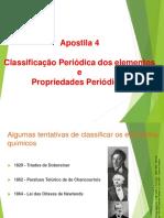Apostila 4 Classificação Periodica Dos Elementos e Propriedades Periodicas