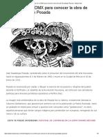 Lugares en La CDMX Para Conocer La Obra de José Guadalupe Posada - Máspormás