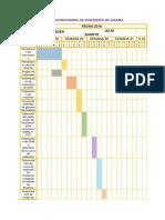 Cronograma de Ingeniería de Enzima