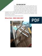 Pengrajin Busur Panah Horsebow Fiber