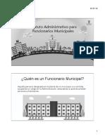 Estatuto de Funcionarios Municipales