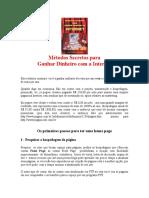 Métodos secretos para ganhar dinheiro na Internet.doc