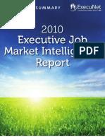 ExecuNet Job Market Intelligence Report Exec Summary 2010