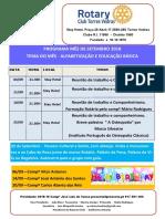 Programa Mês de Setembro 2018