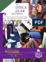 La Biblioteca Escolar Que Sonamos- MEN COLOMBIA