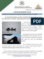 Comunicado de La Armada Nacional
