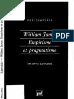David Lapoujade - William James. Empirisme et pragmatisme